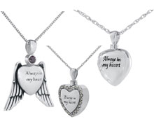 Silver Cremation Jewelry